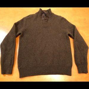 J Crew Womens Dark Forest Green Lambs Wool Sweater
